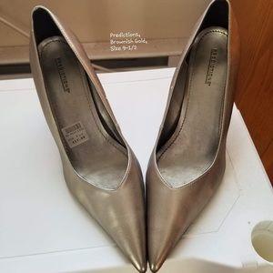 Tan pointed high heels